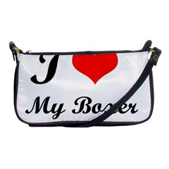 I Love My Boxer Shoulder Clutch Bag