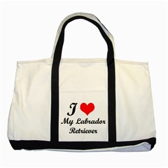 I Love My Labrador Retriever Two Tone Tote Bag