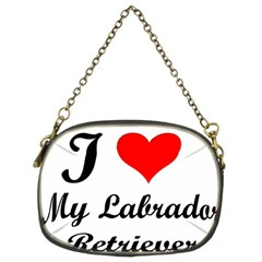 I Love My Labrador Retriever Chain Purse (two Sides)