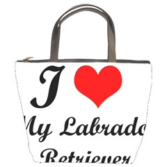 I Love My Labrador Retriever Bucket Bag