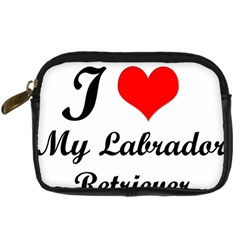 I Love My Labrador Retriever Digital Camera Leather Case