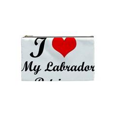 I Love My Labrador Retriever Cosmetic Bag (Small)