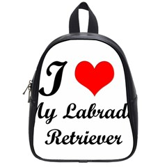 I Love My Labrador Retriever School Bag (Small)