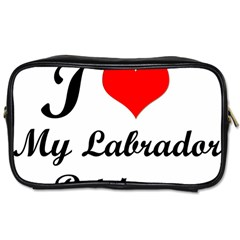 I Love My Labrador Retriever Toiletries Bag (One Side)
