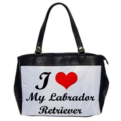 I Love My Labrador Retriever Oversize Office Handbag (One Side)