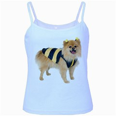 Dog Photo Baby Blue Spaghetti Tank