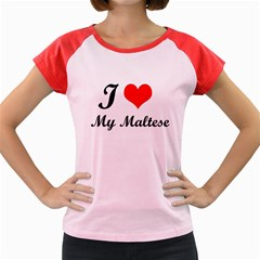 I Love My Maltese Women s Cap Sleeve T Shirt