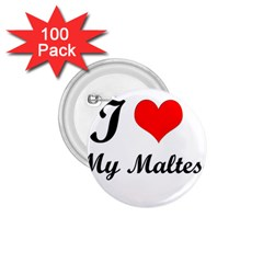 I Love My Maltese 1.75  Button (100 pack)