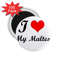 I Love My Maltese 2 25  Magnet (100 Pack)