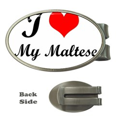 I Love My Maltese Money Clip (oval)