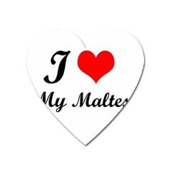 I Love My Maltese Magnet (heart)