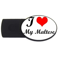 I Love My Maltese USB Flash Drive Oval (2 GB)