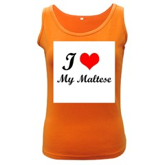 I Love My Maltese Women s Dark Tank Top