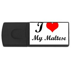 I Love My Maltese Usb Flash Drive Rectangular (4 Gb)