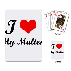 I Love My Maltese Playing Cards Single Design