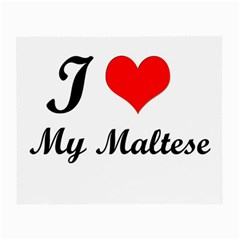 I Love My Maltese Glasses Cloth (small, Two Sides)