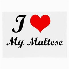 I Love My Maltese Glasses Cloth (Large)