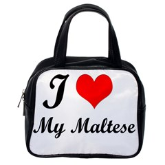 I Love My Maltese Classic Handbag (One Side)