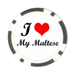 I Love My Maltese Poker Chip Card Guard (10 Pack)