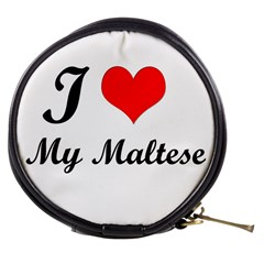 I Love My Maltese Mini Makeup Bag