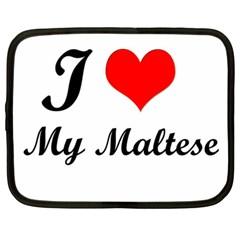I Love My Maltese Netbook Case (XXL)