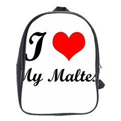 I Love My Maltese School Bag (Large)