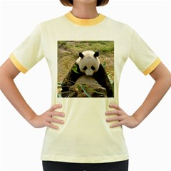 Big Panda Women s Fitted Ringer T Shirt
