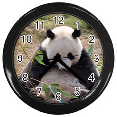 Big Panda Wall Clock (Black)