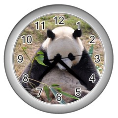 Big Panda Wall Clock (Silver)
