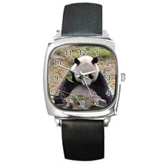 Big Panda Square Metal Watch