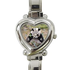 Big Panda Heart Italian Charm Watch