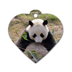 Big Panda Dog Tag Heart (One Side)
