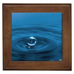 Water Drop Framed Tile