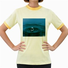 Water Drop Women s Fitted Ringer T-Shirt