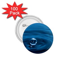 Water Drop 1 75  Button (100 Pack)