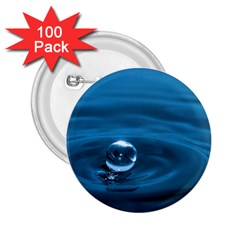 Water Drop 2.25  Button (100 pack)