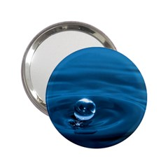 Water Drop 2 25  Handbag Mirror