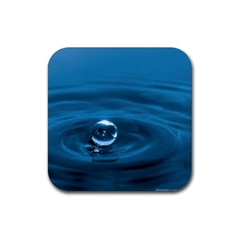 Water Drop Rubber Square Coaster (4 Pack)