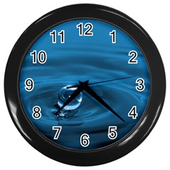 Water Drop Wall Clock (Black)