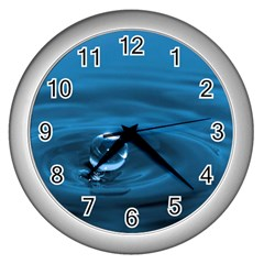 Water Drop Wall Clock (Silver)