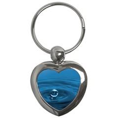 Water Drop Key Chain (Heart)
