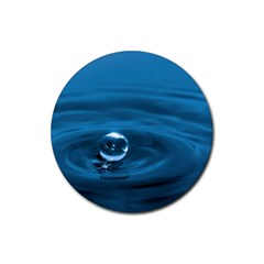 Water Drop Rubber Round Coaster (4 pack)