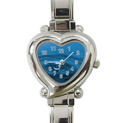 Water Drop Heart Italian Charm Watch