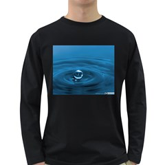 Water Drop Long Sleeve Dark T Shirt