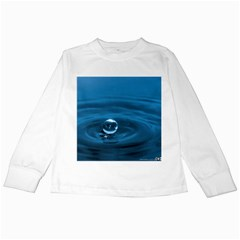 Water Drop Kids Long Sleeve T-Shirt