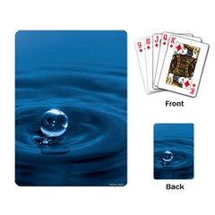 Water Drop Playing Cards Single Design