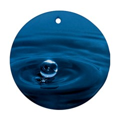 Water Drop Round Ornament (Two Sides)