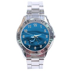 Water Drop Stainless Steel Analogue Men's Watch