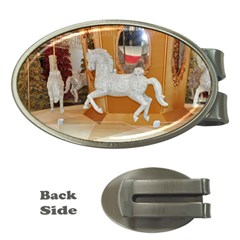 White Horse Money Clip (Oval)