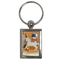White Horse Key Chain (Rectangle)